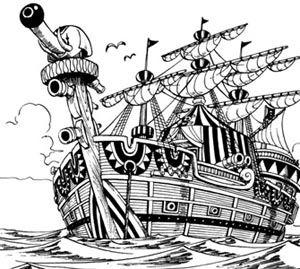 One piece pirate art 31 bateau baggy le clown - Bateau pirate dessin ...